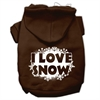 Mirage Pet Products I Love Snow Screenprint Pet Hoodies Brown Size XS (8)