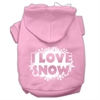 Mirage Pet Products I Love Snow Screenprint Pet Hoodies Light Pink Size M (12)