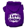 Mirage Pet Products I Love Snow Screenprint Pet Hoodies Purple Size M (12)