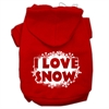 Mirage Pet Products I Love Snow Screenprint Pet Hoodies Red Size L (14)