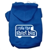 Mirage Pet Products I ride the short bus Screen Print Pet Hoodies Blue Size XXXL(20)