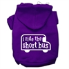 Mirage Pet Products I ride the short bus Screen Print Pet Hoodies Purple Size M (12)