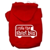 Mirage Pet Products I ride the short bus Screen Print Pet Hoodies Red Size XS (8)