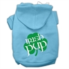 Mirage Pet Products Irish Pup Screen Print Pet Hoodies Baby Blue Size Sm (10)