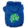 Mirage Pet Products Irish Pup Screen Print Pet Hoodies Blue Size XL (16)