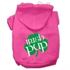 Mirage Pet Products Irish Pup Screen Print Pet Hoodies Bright Pink Size XS (8)