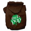Mirage Pet Products Irish Pup Screen Print Pet Hoodies Brown Size Lg (14)