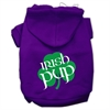 Mirage Pet Products Irish Pup Screen Print Pet Hoodies Purple Size Lg (14)