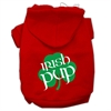 Mirage Pet Products Irish Pup Screen Print Pet Hoodies Red Size XS (8)