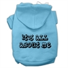 Mirage Pet Products It's All About Me Screen Print Pet Hoodies Baby Blue Size XS (8)
