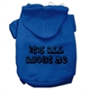 Mirage Pet Products It's All About Me Screen Print Pet Hoodies Blue Size Med (12)