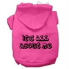 Mirage Pet Products It's All About Me Screen Print Pet Hoodies Bright Pink Size XS (8)