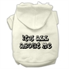 Mirage Pet Products It's All About Me Screen Print Pet Hoodies Cream Size Med (12)