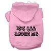 Mirage Pet Products It's All About Me Screen Print Pet Hoodies Light Pink Size XXXL (20)