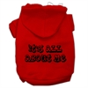 Mirage Pet Products It's All About Me Screen Print Pet Hoodies Red Size Sm (10)