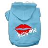 Mirage Pet Products Kiss Me Screen Print Pet Hoodies Baby Blue Size Sm (10)