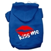 Mirage Pet Products Kiss Me Screen Print Pet Hoodies Blue Size Sm (10)