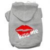 Mirage Pet Products Kiss Me Screen Print Pet Hoodies Grey Size XXXL (20)