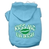 Mirage Pet Products Kiss Me I'm Irish Screen Print Pet Hoodies Baby Blue Size Sm (10)