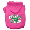 Mirage Pet Products Kiss Me I'm Irish Screen Print Pet Hoodies Bright Pink Size XS (8)