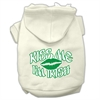 Mirage Pet Products Kiss Me I'm Irish Screen Print Pet Hoodies Cream Size Med (12)
