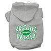 Mirage Pet Products Kiss Me I'm Irish Screen Print Pet Hoodies Grey Size XXL (18)