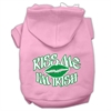 Mirage Pet Products Kiss Me I'm Irish Screen Print Pet Hoodies Light Pink Size Sm (10)