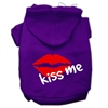 Mirage Pet Products Kiss Me Screen Print Pet Hoodies Purple Size Med (12)