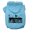 Mirage Pet Products Las Vegas Skyline Screen Print Pet Hoodies Baby Blue Size Sm (10)