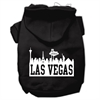 Mirage Pet Products Las Vegas Skyline Screen Print Pet Hoodies Black Size XS (8)