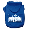Mirage Pet Products Las Vegas Skyline Screen Print Pet Hoodies Blue Size Sm (10)