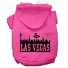 Mirage Pet Products Las Vegas Skyline Screen Print Pet Hoodies Bright Pink Size Sm (10)
