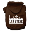 Mirage Pet Products Las Vegas Skyline Screen Print Pet Hoodies Brown Size XXL (18)