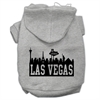 Mirage Pet Products Las Vegas Skyline Screen Print Pet Hoodies Grey Size XXL (18)