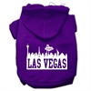 Mirage Pet Products Las Vegas Skyline Screen Print Pet Hoodies Purple Size XXXL (20)