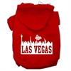 Mirage Pet Products Las Vegas Skyline Screen Print Pet Hoodies Red Size Sm (10)
