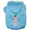 Mirage Pet Products Lazy Elf Screen Print Pet Hoodie Baby Blue XS (8)