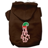 Mirage Pet Products Lazy Elf Screen Print Pet Hoodie Brown Lg (14)