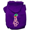 Mirage Pet Products Lazy Elf Screen Print Pet Hoodie Purple XXL (18)