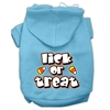 Mirage Pet Products Lick Or Treat Screen Print Pet Hoodies Baby Blue XXXL(20)
