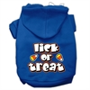Mirage Pet Products Lick Or Treat Screen Print Pet Hoodies Blue Size XS (8)