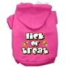 Mirage Pet Products Lick Or Treat Screen Print Pet Hoodies Bright Pink Size XS (8)