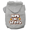 Mirage Pet Products Lick Or Treat Screen Print Pet Hoodies Grey XXL (18)