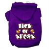 Mirage Pet Products Lick Or Treat Screen Print Pet Hoodies Purple Size S (10)