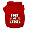 Mirage Pet Products Lick Or Treat Screen Print Pet Hoodies Red Size L (14)