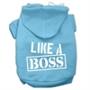 Mirage Pet Products Like a Boss Screen Print Pet Hoodies Baby Blue Size Med (12)