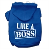 Mirage Pet Products Like a Boss Screen Print Pet Hoodies Blue Size XS (8)