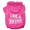 Mirage Pet Products Like a Boss Screen Print Pet Hoodies Bright Pink Size Sm (10)
