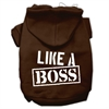 Mirage Pet Products Like a Boss Screen Print Pet Hoodies Brown Size Sm (10)