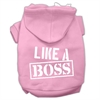 Mirage Pet Products Like a Boss Screen Print Pet Hoodies Light Pink Size Med (12)